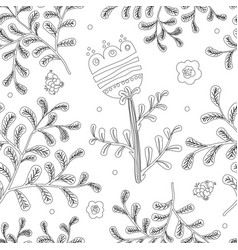 Elegance seamless pattern with flowers for vector