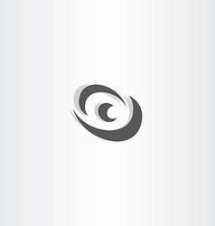 eye logotype black icon design vector image vector image