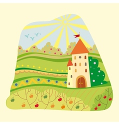 fairytale castle vector image