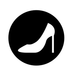 female shoes heel icon vector image vector image