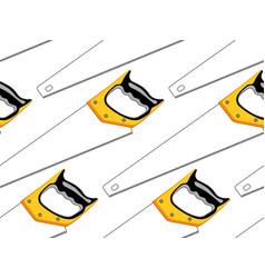 Hacksaw seamless pattern vector