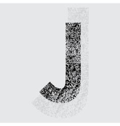 Letter J vector image