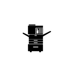 Multifunction printer icon vector