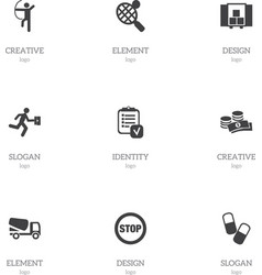 Set of 9 editable complicated icons includes vector