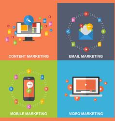 set of marketing design concepts vector image vector image