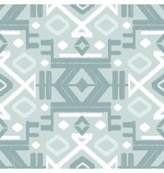 silver gray ikat seamless pattern vector image