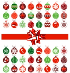 template with various christmas balls vector image