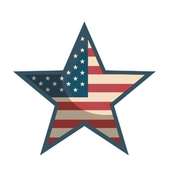 Usa star shape vector