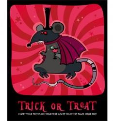 vampire rat vector image