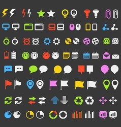 Web pictograms vector