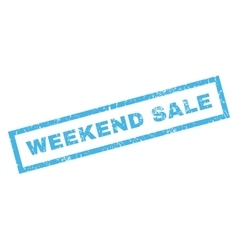 Weekend sale rubber stamp vector
