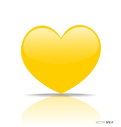 Yellow Heart vector image vector image