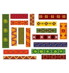 African ethnic pattern with tribal geometric motif vector