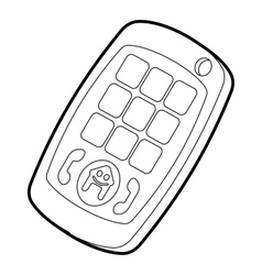 Toy mobile phone icon outline style vector