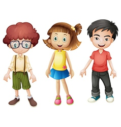 Smiling kids vector image