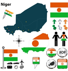 Niger map vector
