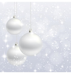Christmas ornament background card vector