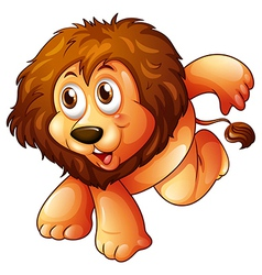 A lion in a jumping position vector