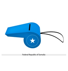 A whistle of federal republic of somalia vector