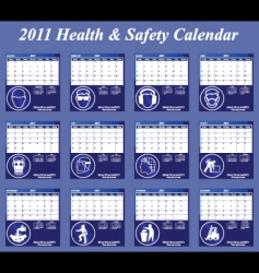 2011 calendar has collection vector image