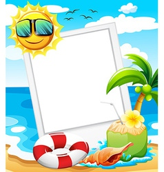 An empty frame at the beach vector