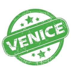 Venice green stamp vector