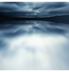 blue blur lake vector image