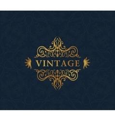 Calligraphic luxury symbol emblem ornate decor vector