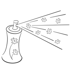 deodorant symbol vector image