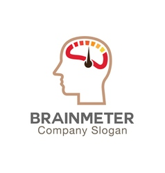 Brain meter design vector
