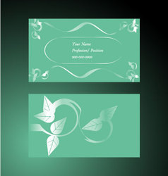Delicate-delight - business card vector