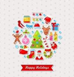 Merry christmas celebration card vector
