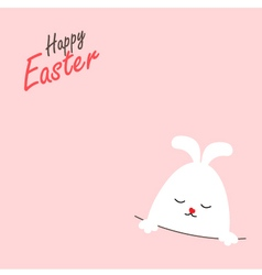 Greeting card with easter rabbit vector