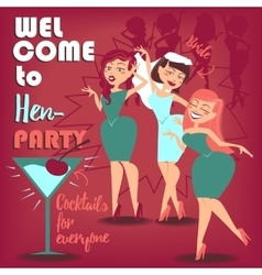 Hen party women vector