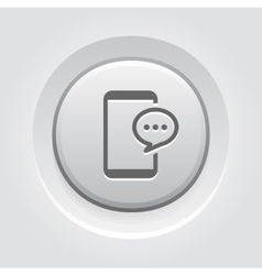 Phone message button design vector