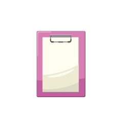 Clipboard with a blank sheet of paper icon vector image