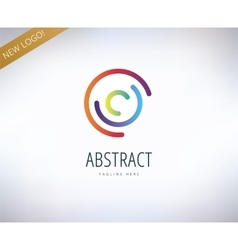 Abstract logo elements Logotype template vector image
