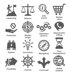 Business management icons Pack 13 vector image vector image