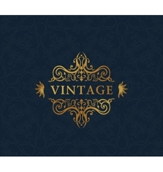 Calligraphic luxury symbol emblem ornate decor vector