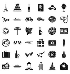 Celebration icons set simple style vector