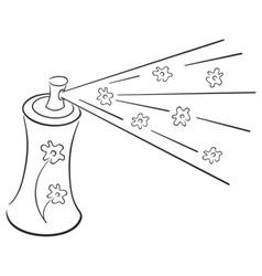 deodorant symbol vector image vector image