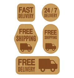 free shipping and free delivery labels vector image vector image