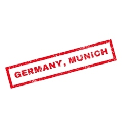 Germany munich rubber stamp vector