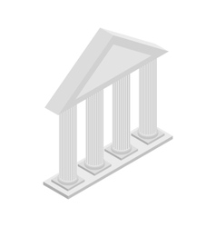 Greek temple with columns icon isometric 3d style vector