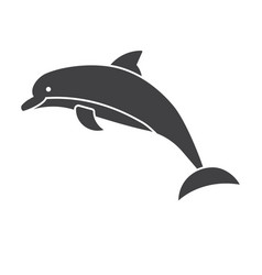 jumping dolphins icon vector image