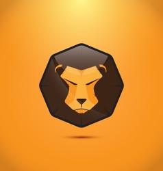 Lion modern logo design vector