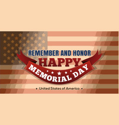 memorial day design vector image vector image
