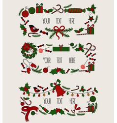 Merry christmas grreting card vintage invitation vector