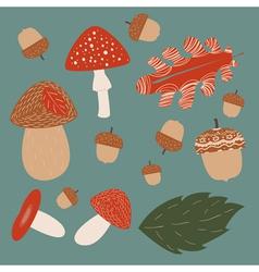 Mushroom hunting vector image vector image
