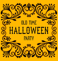 old time halloween party vector image vector image